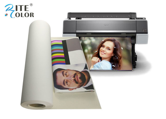 100% Cotton Inkjet Canvas Roll Aqueous For Large Format Inkjet Printing